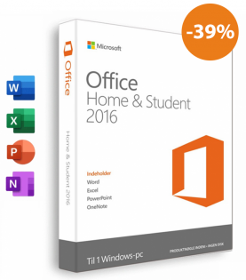 Microsoft Office 2016 Home & Student Til PC (Download)